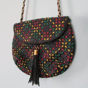 Vintage Saddle River woven crossbody bag